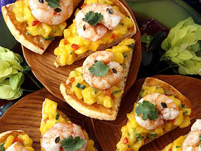 JAMAICAN SHRIMP WITH MANGO RELISH