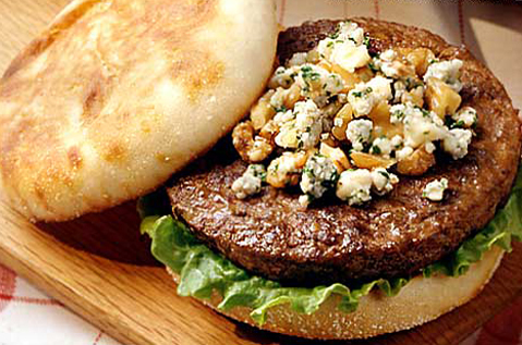 BEEFEATER BLUE AND WALNUT BURGER